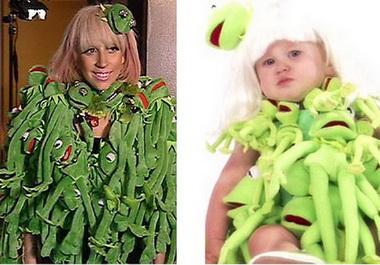 Леди Гага в платье из лягушек