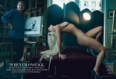 Леди Гага обнажилась